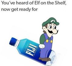 You've heard of elf on a shelf, now get ready for Luigi on Fiji