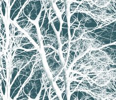 The Tree Lace ~ Winter fabric by peacoquettedesigns on Spoonflower - custom fabric ...Must make some cushions with this