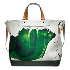 The perfect painted tote for the busy artist--James Nares Coach tote.