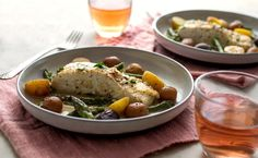 NYT Cooking: Braised Halibut With Asparagus, Baby Potatoes and Saffron