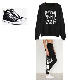 """For my stories"" by alyssaandilovewwe ❤ liked on Polyvore featuring NIKE and Converse"