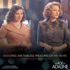 As the people around her changed, Adaline remains the same. #AdalinesAgelessThrowBack