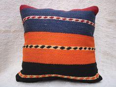 Kilim Pillow Cover Decorative Pillow Handmade Pillow Vintage Pillow Turkish Pillow Throw Pillow Kilim Pillow Kilim Cushion by TurqArts Handmade Pillows, Decorative Pillows, Cushion Covers, Pillow Covers, Kilim Cushions, Throw Pillows, Geometric Pillow, Vintage Pillows, Bohemian Pillows