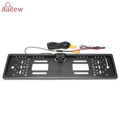 Universal European Car License Rear View Camera Plate Frame Parking Backup Reverse Camera CCD HD for EU Car #Affiliate