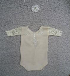 0-1 month Newborn Romper, Baby Girl Headband,  Prop Outfit, Baby Girl Photo Props,  Baby Romper, Newborns Girls Props, Baby Prop Outfit by KaroLovewdzianka on Etsy
