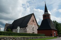 The Old Church of Ulvila. Grave Monuments, Graveyards, Place Of Worship, Old Buildings, Mosque, Finland, Aurora, Temple, Maine