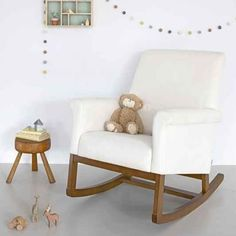 olli ella roki rocker nursing chair snow with natural