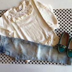 🚨🚨☃SALE❄️🚨🚨  Moletom Strass com Calça Jeans - Somente tamanho 4!  Para comprar, acesse ➡️➡️ www.purezababy.com.br/moletom-strass-com-calca-jeans-infanti