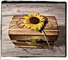 Sunflower Wedding Ring Bearer /Vintage Inspired One by cuteNtrendy, $19.99