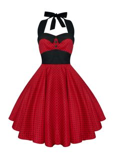 Rockabilly Red Christmas Dress Polka Dot by LadyMayraClothing