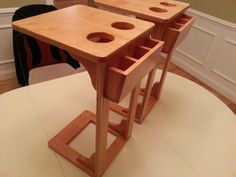 Sofa side table remote caddy and drink holder in one - cut plans ...