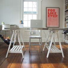 eclectic home office by Lisa Fyfe
