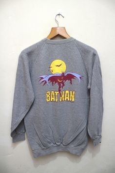 Vintage 1993 BATMAN Blendy Can Coffee Animation Cartoon Superheroes DC Comics Marvel Pullover Sweater Sweatshirt by VintageClothingMall on Etsy