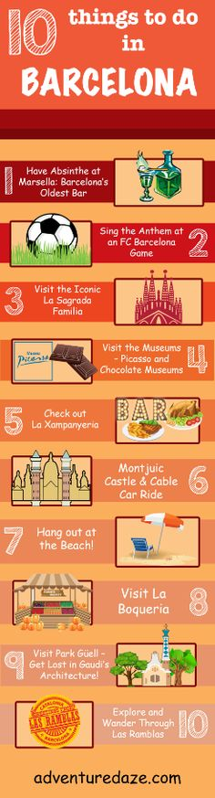 Our Top 10 Favorite things to do in Barcelona, Spain! Barcelona Bars, Barcelona Spain Travel, Barcelona Sights, Travel To Spain, Barcelona Things To Do In, Travel Europe, New Travel, Future Travel, Travel Tips