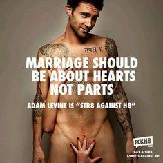 """Adam Levine is """"Str8 Against H8"""""""
