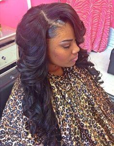 #InvisiblePart #SideBangs #Weave #Curls