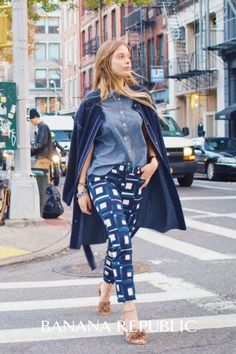 """Try the new low-rise, slim-cut Banana Republic Sloan pant, a must have style for spring. The fabric has just the right amount of stretch for a figure shaping fit that you can wear comfortably from day-to-night. With the cropped, 28"""" inseam, these pants work just as well with flats or heels. We love Sloan with strappy sandals, a button down and blazer at the office, or for weekends, with an oversized pullover and flats."""