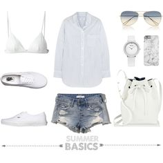 Summer Basics by fashionlandscape on Polyvore featuring Mode, Equipment, T By Alexander Wang, Abercrombie & Fitch, Vans, Mansur Gavriel and Isabel Marant