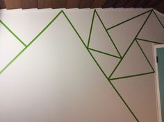 how to start your triangle wall.  use frog tape only