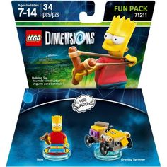 Lincoln has LEGO Dimensions The Simpsons Bart Fun Pack (Universal) - Walmart.com