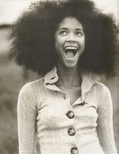Model Jordan Richardson | weheartit | afro | happy | smile | happiness | laughing | fro | hair | www.republicofyou.com.au