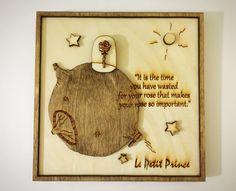 The Little Prince Wood Frame no.3 Rose / Wood by gartsdesign