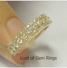 Oh, I wish I could see the Rose Gold one! Brilliant Diamond Ring in Solid Yellow Gold, Full Eternity Wedding Band Anniversary Ring, White & Rose Gold Metal Availble, Diamond Wedding Bands, Diamond Rings, Diamond Jewelry, Gold Jewelry, Ruby Rings, Purple Jewelry, Jewlery, Solitaire Diamond, Emerald Jewelry