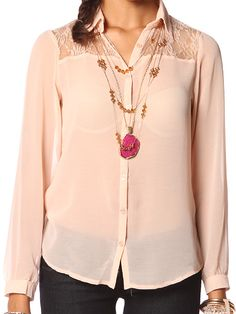 Papaya - LACE AND MESH BLOUSE With a shirt under it of course. $12.99