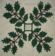Appliqued Baltimore quilt block