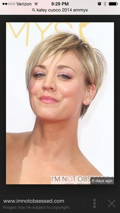 kaley cuoco short haircut back view - Google Search