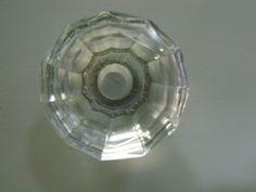 CLEAR GLASS CRYSTAL VANITY DRAWER HANDLE KNOB 35mm
