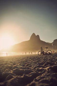 Bike, sunset