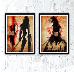 Kill Bill Quentin Tarantino Movie Poster Set #Minimalism