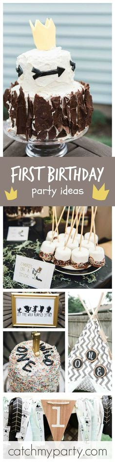 What an amazing Wild One 1st Birthday party inspired on the book 'Where the Wild Things Are'!