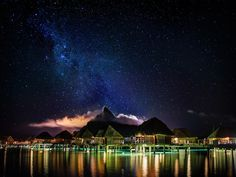 Was every night in Bora Bora this pretty, or just the ones where I took photos? It was EVERY NIGHT! It was so pretty every night, how could you NOT go out and take photos? With that mountain and the amazing architecture over the water… it was so awesome and a real treat to be here. - French Polynesia, Bora Bora - Photo from #treyratcliff Trey Ratcliff at http://www.StuckInCustoms.com