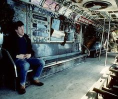Räume im Zug - NYC Subways in den 1980ern