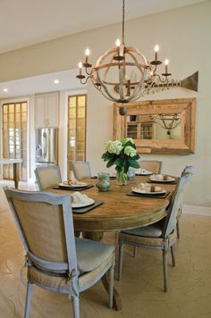 Rustic chic dining room.