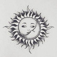 Sun and moon картинки tatuajes de sol, tatuajes de luna и tatuajes pequeños Sun And Moon Drawings, Sun Drawing, Art Drawings Sketches, Tattoo Drawings, Body Art Tattoos, Small Tattoos, Tribal Sun Tattoos, Hippie Sun Tattoo, Tatoos