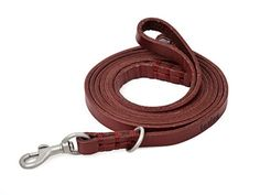 Amazons 1 Rated Red Leather Leash for Kitty Cats Small Dogs Pleash Slip Lead Leash and Collar in One Canine K9 Training Walking Solid Hardware For Small Puppy Dogs Breeds Handmade Stitching 5ft Long By 38 Inch Wide Fashion Red with Free Softtouch Bag *** Click image to review more details.