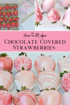 Chocolate Covered Strawberries – Partylicious Chocolate Covered Strawberries – Partylicious,unhealthy sweets This step by step tutorial shows you how to make the perfect DIY chocolate covered strawberries, along with ideas for toppings and decorating! Strawberry Dip, Strawberry Recipes, Strawberry Shortcake, How To Make Chocolate, Homemade Chocolate, Making Chocolate Covered Strawberries, Chocolate Candy Melts, Chocolate Covered Treats, Chocolate Dipped Fruit