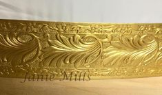 Lamp Banding Brass 1 1/4 Floral Swirls approx 20 gauge Pull down menu for options in sizes and pricing send message if you want larger pieces uncut Use in rolling mill on sterling or other metals for beautiful texture Great for headdress making, Cosplay supply, tiara supply, crown supply, jewelry Lamp Redo, Rolling Mill, Circlet, Beautiful Textures, Headdress, Swirls, Solid Gold, Decorative Bowls, Jewelry Box
