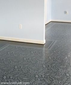 Looking for an affordable flooring solution? We couldn't deal with our nasty carpet any longer, so we replaced it with a beautiful painted plywood subfloor. Cork Flooring, Carpet Flooring, Kitchen Flooring, Stair Carpet, Kitchen Carpet, Painted Plywood Floors, Plywood Subfloor, Painted Wood, Cheap Hardwood Floors