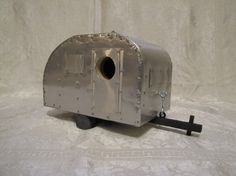 Check out this item in my Etsy shop https://www.etsy.com/listing/201359041/aluminum-camper-birdhouse