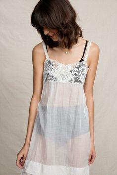 Vintage White Slip Dress #urbanoutfitters
