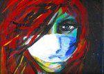 Une oeuvre achetée par une jeune fille de 13 ans qui a cassé sa tirelire pour ça. Oeuvre de Nadia Nadège (détail), 2005.