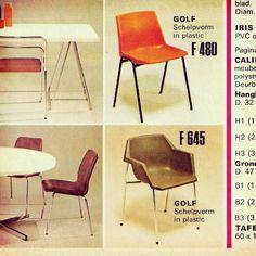 """Chaise et fauteuil """"Golf"""", de J.P. Emonds-Alt, ed. Meurop 1972"""