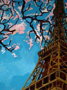 Paris Painting 42cm x 30cm