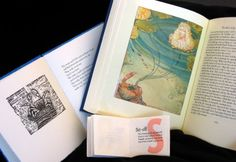 """Childhood Summers by the Sea, The Blue Fairy Book, Letterpress Printing ABC, Conversations with a Toad, and Hoi Barbaroi, Fine Press Books    Vancouver Public Library, Special Collections     As described by Grace Glueck in the New York Times article, Ode to Well-Made Books and the Art of Printing, """"fine-press books are meant to celebrate the written word by masterly use of typography, illustration, layout, paper, binding and press work."""" Photo credit: Sue Camilleri Konar"""