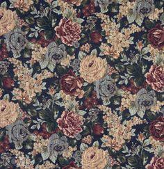 Floral Fabrics K7034 NAVY