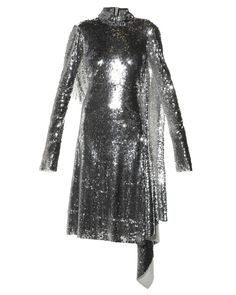 Vetements | Silver Open-Back High-Neck Sequined Dress | Lyst Dress Lyst...